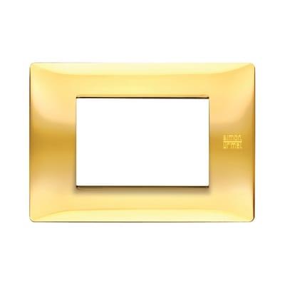 Placca SIMON URMET Nea Flexa 3 moduli oro lucido