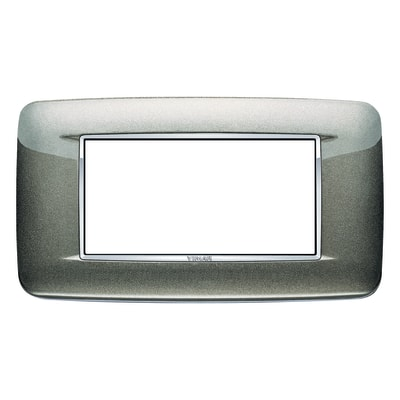 Placca VIMAR Eikon 4 moduli titanio metal