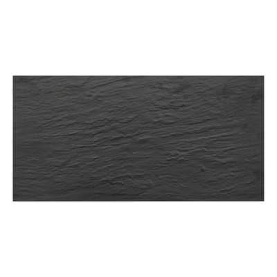 Piastrella Slate L 30 x H 30 cm nero