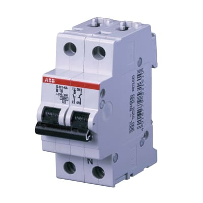 Interruttore magnetotermico ABB ELS201L-C10NA 1P +N 10A C 2 moduli 230V