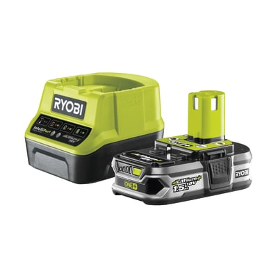Set caricabatteria RYOBI RC18120-115 in litio (li-ion) 18 V 1.5 Ah