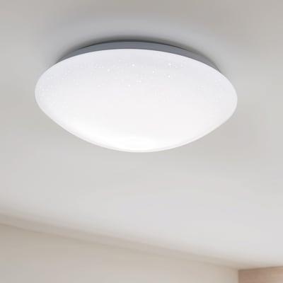 Plafoniera moderno Modica LED integrato bianco D. 35.0 cm 35.0 cm, INSPIRE
