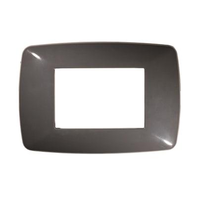 Placca FEB Flexi Brio 3 moduli grigio scuro