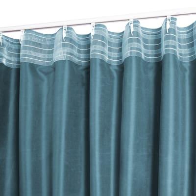 Tenda Alca blu fettuccia con passanti nascosti 140 x 280 cm