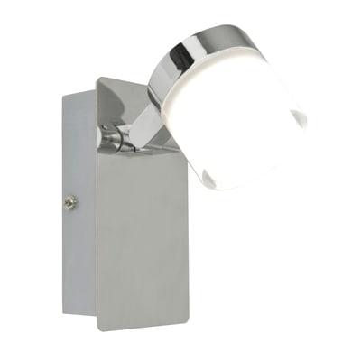Faretto a muro Coos cromo, in metallo, LED integrato 3.2W 400LM IP44 INSPIRE