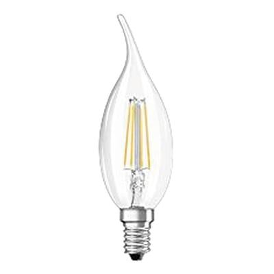 Lampadina LED filamento, E14, Colpo di vento, Trasparente, Luce calda, 4W=470LM (equiv 40 W), 300° , OSRAM