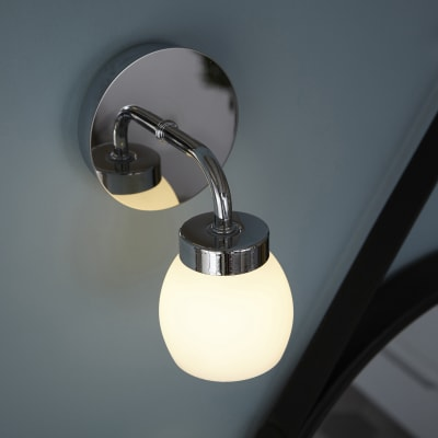 Applique Elia cromo, in metallo, 12.5 cm, LED integrato 3.5W 300LM IP44 INSPIRE