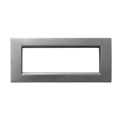 Placca CAL Idea 6 moduli grigio ardesia