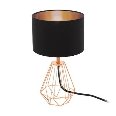 Lampada da comodino Design Carlton 2 nero, in tela, EGLO