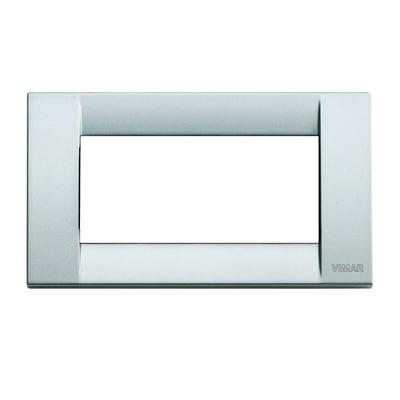 Placca VIMAR Idea 4 moduli argento metallizzato