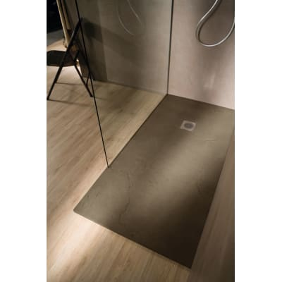 Piatto doccia ultrasottile resina Elements 80 x 140 cm terra