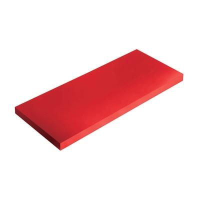 Mensola Spaceo L 56 x P 20 cm, Sp 1.8 cm rosso