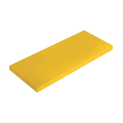Mensola Spaceo L 76 x P 20 cm, Sp 1.8 cm giallo