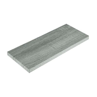 Mensola Spaceo L 76 x P 23.7 cm, Sp 2.2 cm rovere grigio
