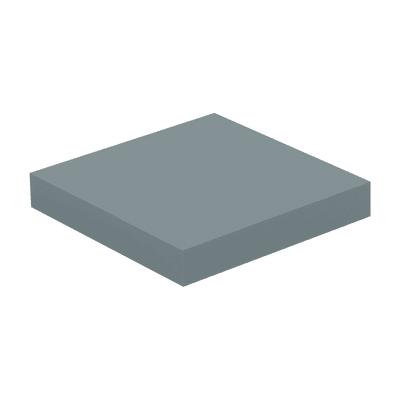 Mensola Spaceo L 23.0 x P 23.0 cm, Sp 3.8 cm grigio