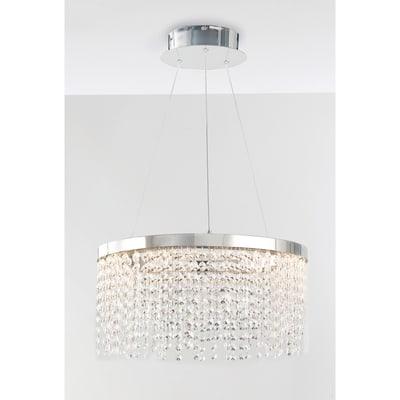 Lampadario Neoclassico Venus LED integrato trasparente, cromo, in cristallo, D. 45 cm, FAN EUROPE