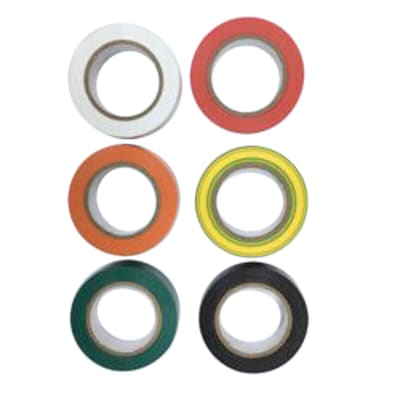 Nastro isolante set 6 pezzi colori assortiti 15 x 10000 x sp 0.15 mm multicolore