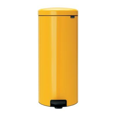 Pattumiera a pedale giallo 30 L