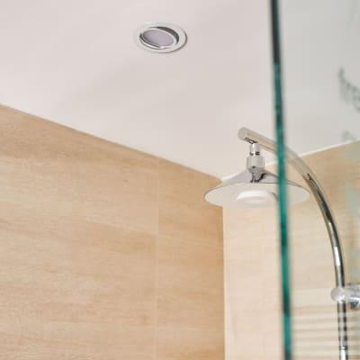 Faretto orientabile da incasso orientabile tondo Lindi in alluminio, bianco, diam. 9 cm LED integrato 500LM IP65 INSPIRE