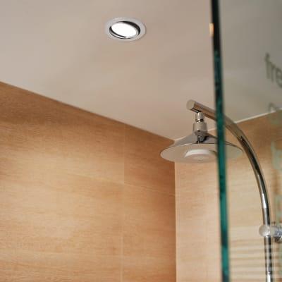 Faretto orientabile da incasso tondo Lindi  in Alluminio bianco, diam. 9 cm LED integrato 500LM IP65 INSPIRE