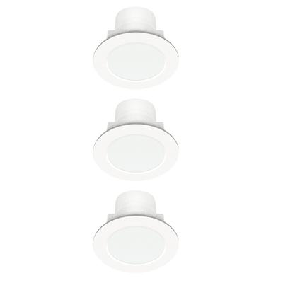 Faretto fisso da incasso tondo Rovigo in plastica, bianco, diam. 8 cm LED integrato 400LM IP44