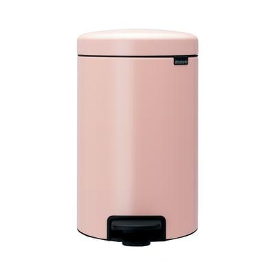 Pattumiera New Icon a pedale rosa 12 L