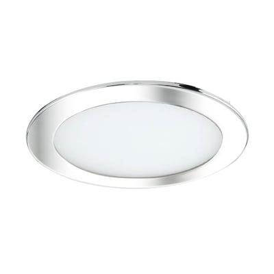 Faretto fisso da incasso tondo Ex.bath in alluminio, cromo, diam. 22.5 cm 8.5x8.5cm LED integrato 2500LM IP44 INSPIRE