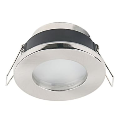 Ghiera per faretto da incasso tondo Lecco in alluminio, grigio, diam. 7 cm GU10 MAX0W IP65 INSPIRE 1 pezzi
