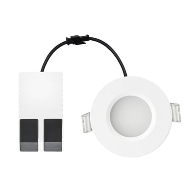 Faretto fisso da incasso tondo Kilia in alluminio, bianco, diam. 8.5 cm 5.4x8.5cm LED integrato 5W 480LM IP65 INSPIRE