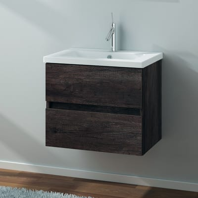 Mobile bagno Kora rovere scuro L 59.5 cm