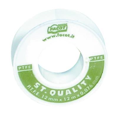Nastro teflon Plastica alta densità (PTFE) 0.012 x 12 x Sp 0.076 mm
