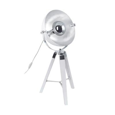 Lampada da tavolo Covaleda cromo, grigio, in acciaio, E27 MAX 60W IP20