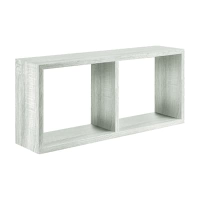 Mensola a cubo Spaceo L 70 x H 35 cm, Sp 23 mm rovere sbiancato