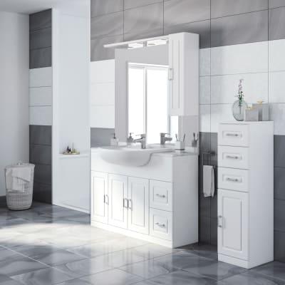 Mobile bagno Paola bianco L 120 cm prezzi e offerte online ...