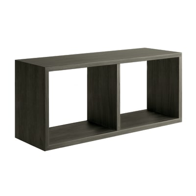 Mensola a cubo Spaceo L 70 x H 35 cm, Sp 23 mm rovere scuro