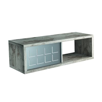 Mensola a cubo L 60 x H 20 cm, Sp 25 mm grigio