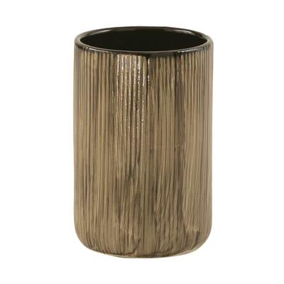 Bicchiere porta spazzolini Naomi in ceramica nero