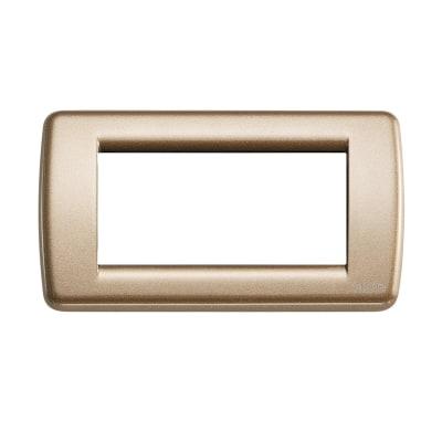 Placca VIMAR Idea 4 moduli bronzo metallizzato