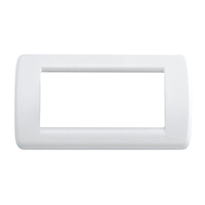 Placca VIMAR Idea 4 moduli bianco brillante