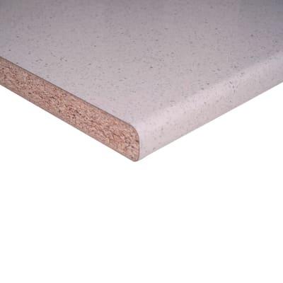 Piano cucina in laminato bianco Glitter L 304 x P 60 cm, spessore 3.8 cm