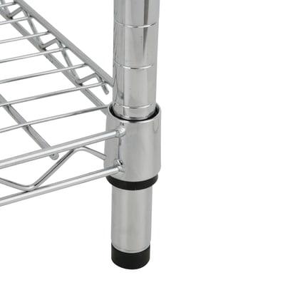 Scaffale in metallo Spaceo Chrome Style+ L 60 x P 35 x H 180 cm