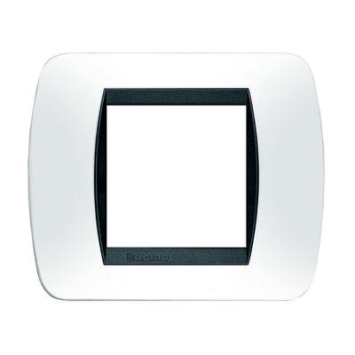Placca BTICINO Living International 2 moduli bianco