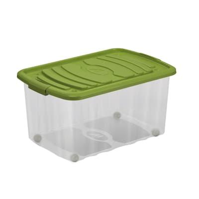 Contenitore Roll Box L 59 x H 30 x P 39 cm trasparente e verde