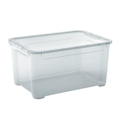 Contenitore T-box L 55.5 x H 28.5 x P 39 cm trasparente