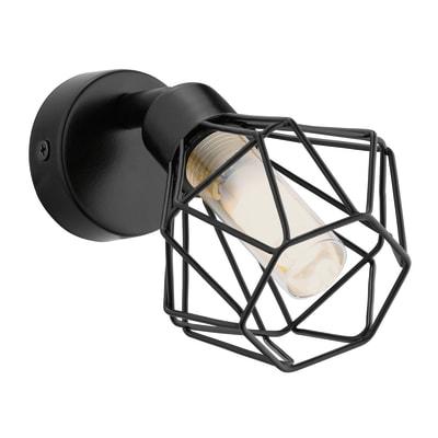 Applique design Zapata nero, in acciaio inossidabile, EGLO