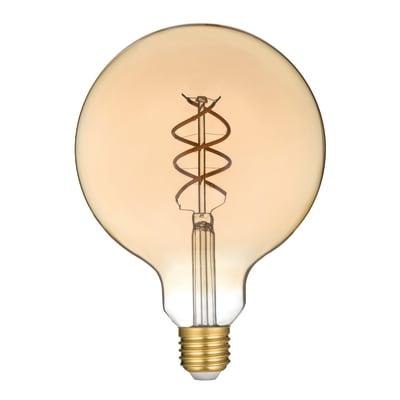 Lampadina Filamento LED E27 globo bianco caldo 4.5W = 300LM (equiv 28W) 360° LEXMAN