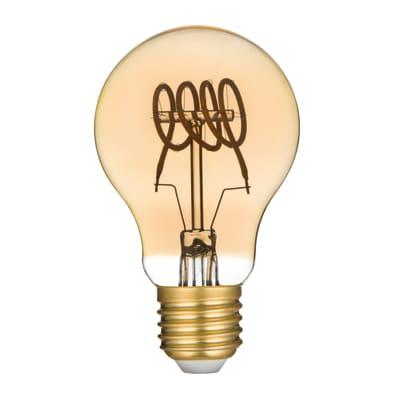 Lampadina LED filamento, E27, Goccia, Ambra, Luce calda, 5W=250LM (equiv 25 W), 360° , LEXMAN