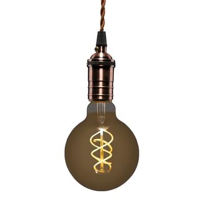 Lampadina LED, E27, Globo, Ambra, Luce calda, 5W=250LM (equiv 25 W), 360° , LEXMAN