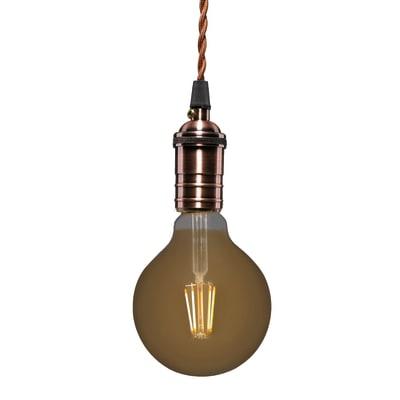 Lampadina Filamento LED E27 globo bianco caldo 3.5W = 300LM (equiv 28W) 360° LEXMAN