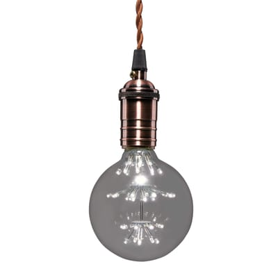 Lampadina Filamento LED E27 globo bianco freddo 2W = 200LM (equiv 20W) 360° LEXMAN